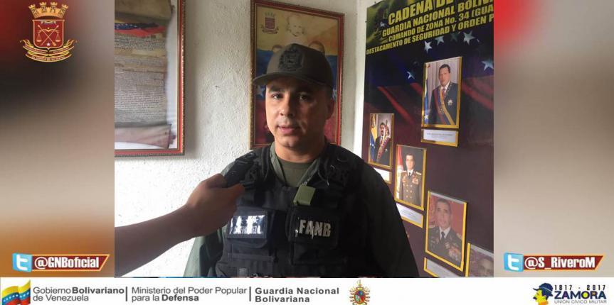 GNB Guárico frustró robo a taxista