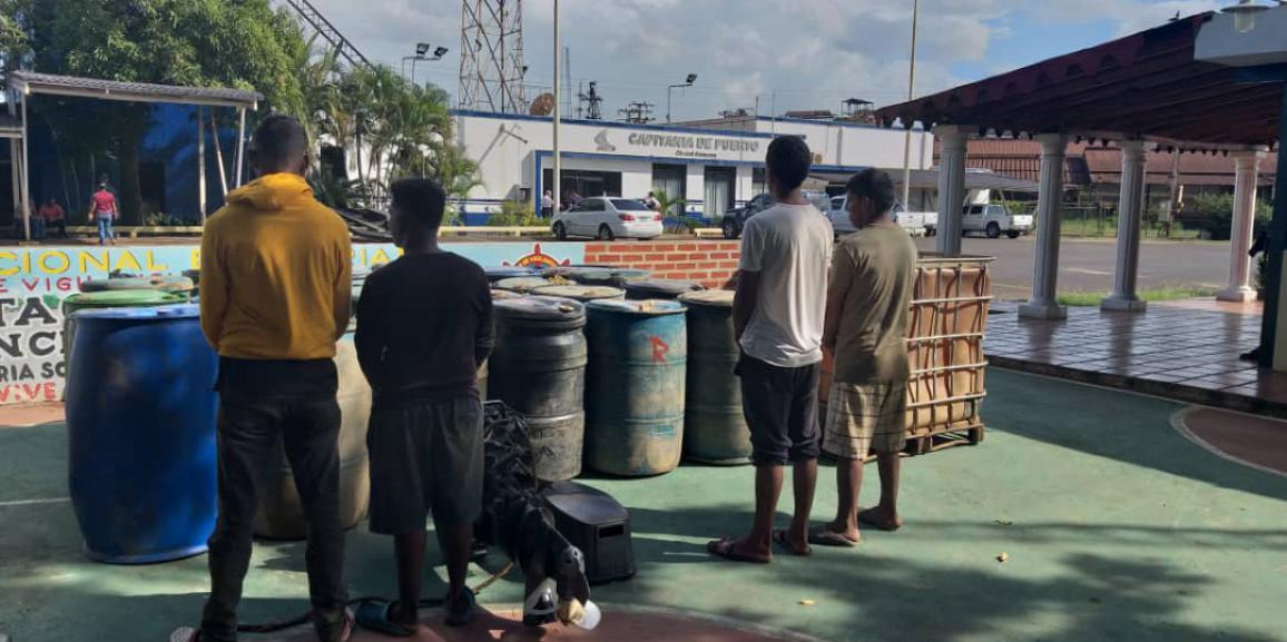 Comando de Vigilancia Costera de la GNB desmantela banda de contrabandistas de combustible