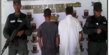 GNB Guárico capturan a dúo hurtando en panadería