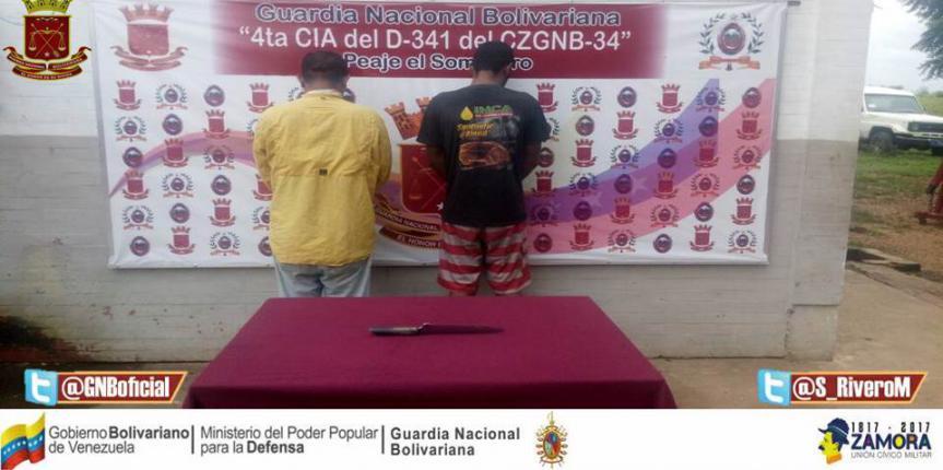 GNB capturó a dúo robado en Guárico