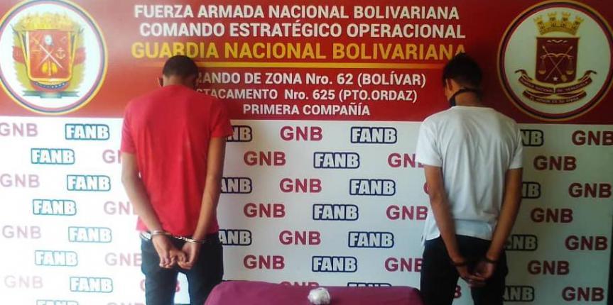 GNB aprehende a dos sujetos en Bolívar por posesión de droga