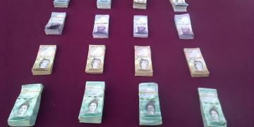 GNB Barinas retuvo más de cinco millones ochocientos mil (5.800.000) bsf en efectivo