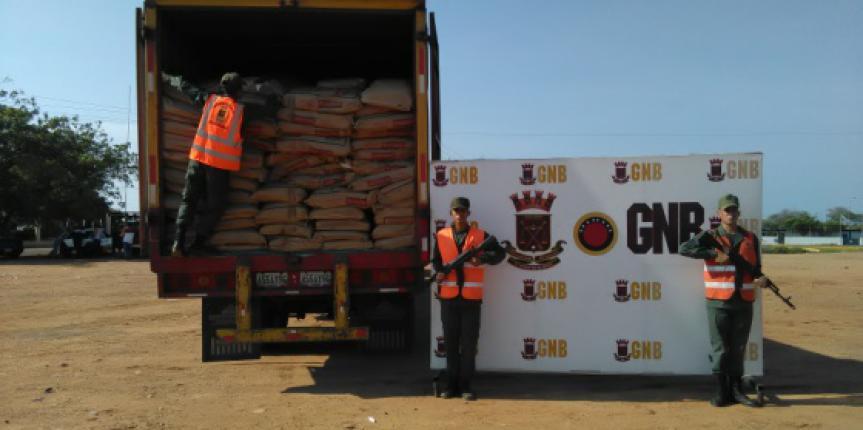 GNB decomisó 46 toneladas entre pollos y derivados lácteos en el estado Zulia