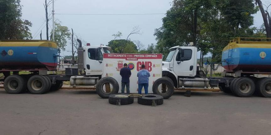 GNB incautó dos toneladas de cobre y 76.000 litros de gasolina en peaje de la Machiques-Colón