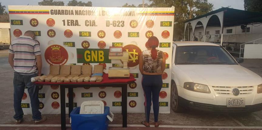 GNB capturó a dos ciudadanos con 26 panelas de presunta marihuana en el estado Bolívar
