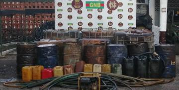 Desmantelado depósito clandestino con 8.180 litros de combustible en Táchira