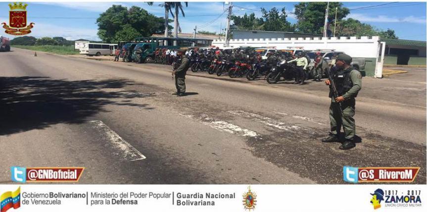 GNB Zulia activó operativos especiales para instalar puntos de control, atención y auxilio a los productores