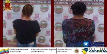Capturadas dos mujeres buscadas por la justicia en Guárico