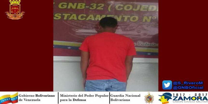 GNB captura a sujeto solicitado en Cojedes