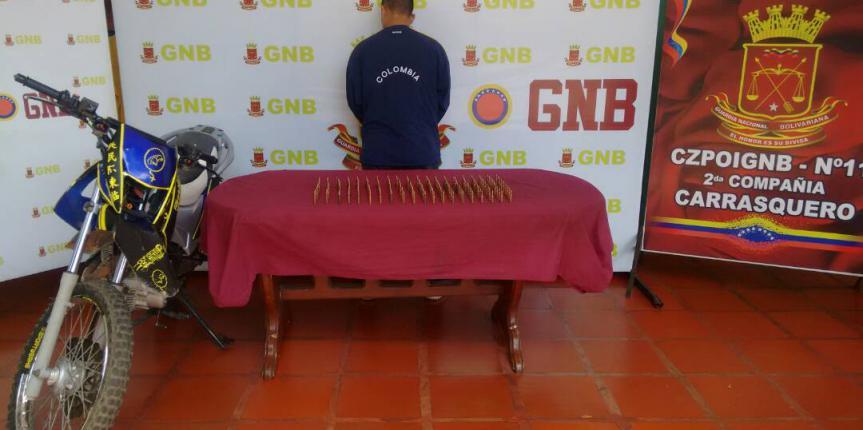 GNB Zulia captura a ciudadano con 194 municiones de guerra