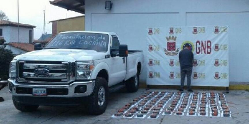 GNB Mérida incautó 116 kilos de cocaína en Mucurubá