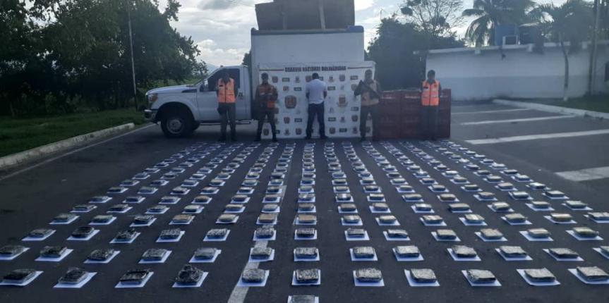 GNB Antidrogas incautó 240 panelas de Marihuana en el estado Yaracuy