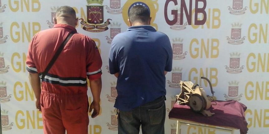 GNB desmanteló banda dedicada al hurto de piezas de autos