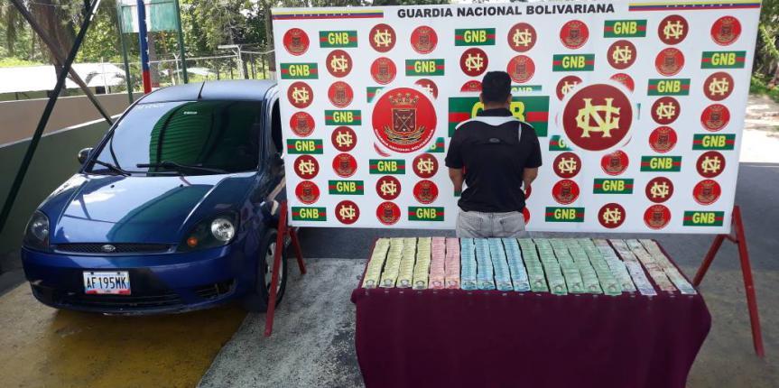 GNB Zulia detuvo a ciudadano en la frontera con carga millonaria en efectivo