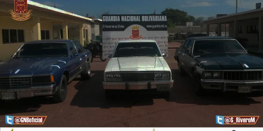 GNB Falcón retuvo tres vehículos por suplantación de seriales en El Cardón