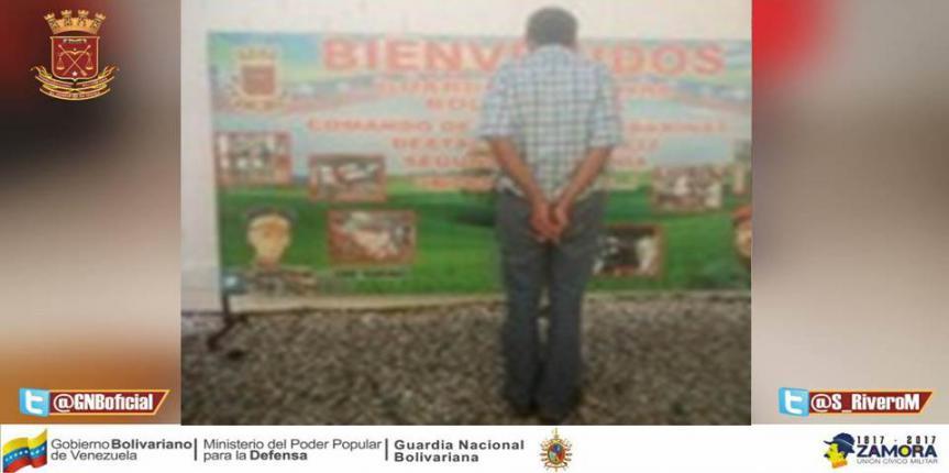 GNB detuvo a ciudadano solicitado en  el estado Barinas