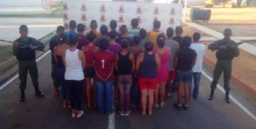 GNB en operativo especial detuvo a 24 ciudadanos por el delito de robo y saqueo en el estado Zulia