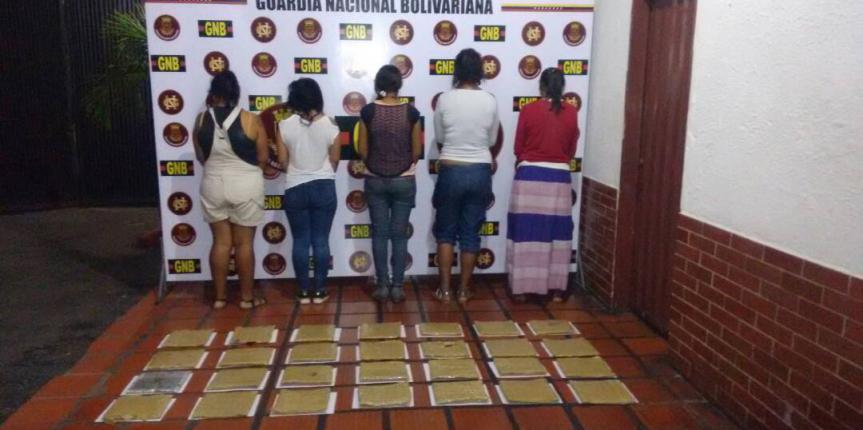 GNB capturó a siete personas por tráfico ilícito de droga en Táchira