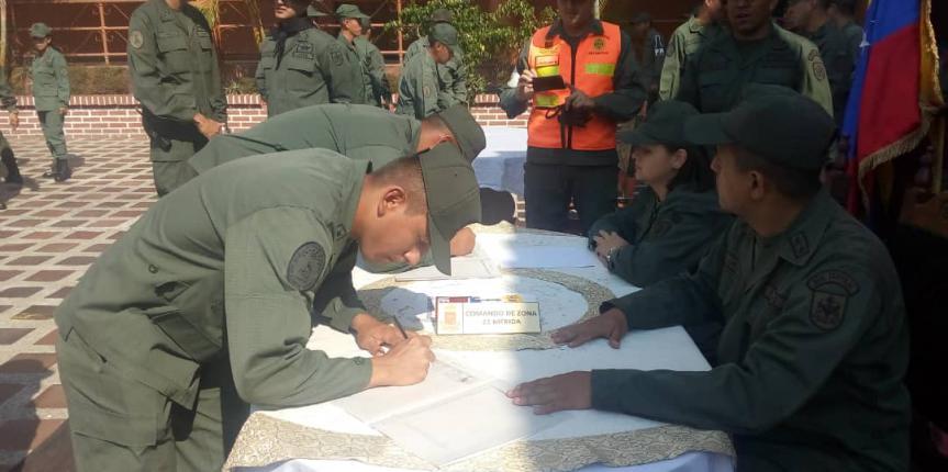 GNB firmó por la Paz y en rechazo a las injerencias golpistas de los EE.UU en el estado Mérida