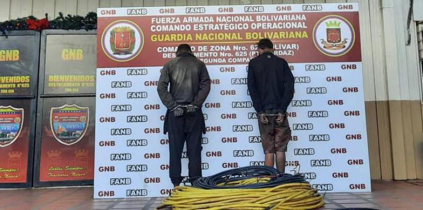 GNB detiene a dos ciudadanos por hurto de material estratégico en SIDOR