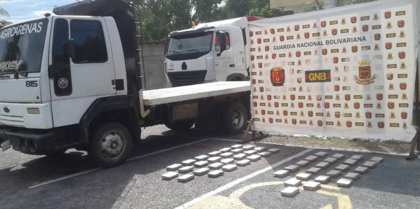 GNB incautó 55 kilos de Cocaína en el peaje de Tucaní