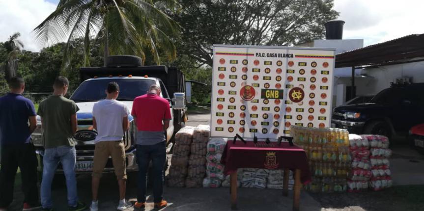 GNB capturó a cuatro ciudadanos con arma de fuego y una granada en estado Bolívar