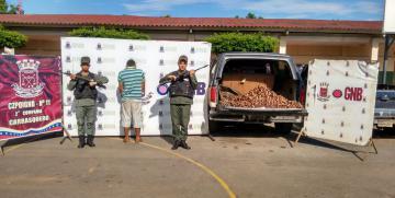 GNB detuvo en Carrasquero ciudadano con 350 kilos de alambre de cobre ocultos en tanque de gasolina de camioneta