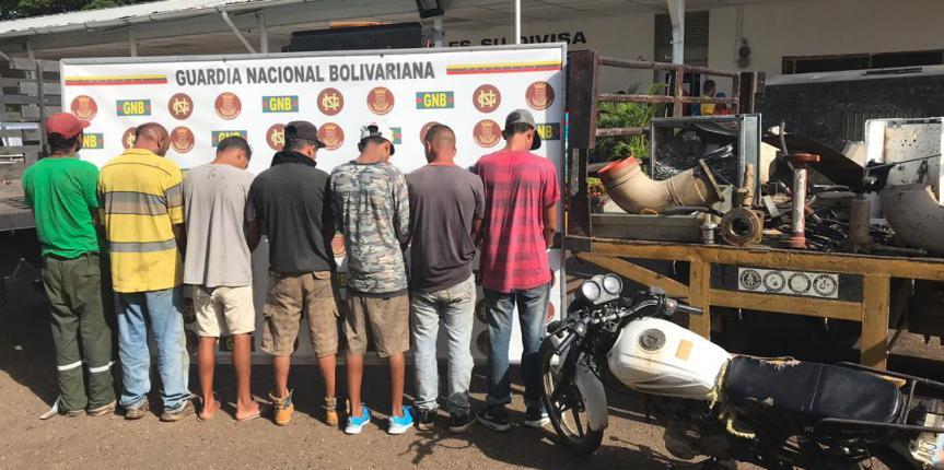 """GNB en Anaco desmantela banda """"Los Nocturnos"""" dedicados a la extracción y hurto de material estratégico"""