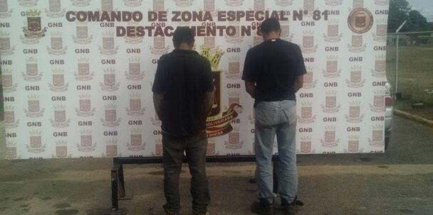 GNB capturó a dos ciudadanos hurtando cables en Anzoátegui