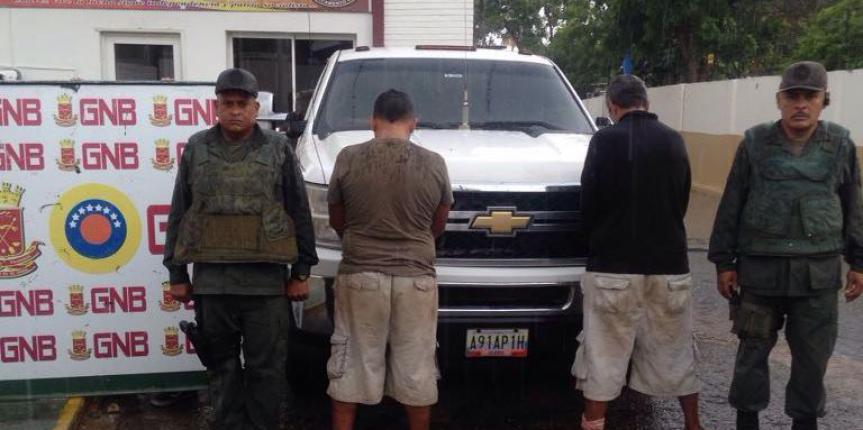GNB rescata de secuestro express a ciudadano víctima del robo de su carro en el estado Zulia