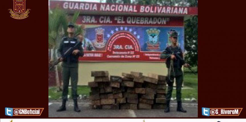 GNB Mérida retuvo 45 piezas de madera