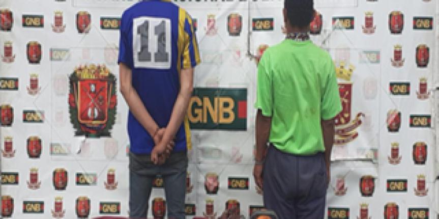 GNB desmanteló Banda dedicada al robo de material estratégico en Mérida