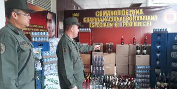GNB clausuró cinco comercios por expender licores