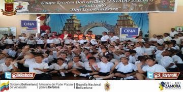 """Unidad Especial Antidrogas en Nueva Esparta participa en el Plan """"El Guardia va a La Escuela"""""""