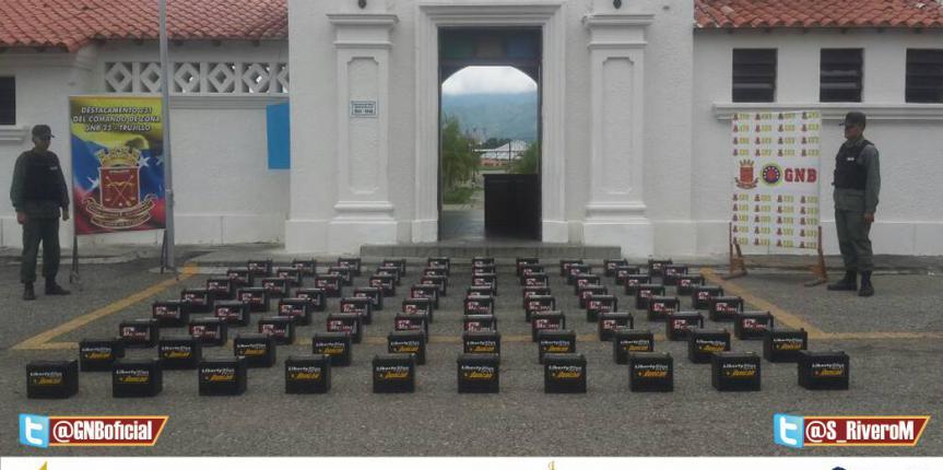 GNB Trujillo Captura Sujeto con 80 Baterías Hurtadas