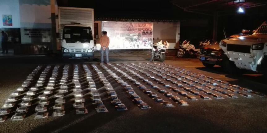 GNB incauto más de 282 kilos de cocaína en los Pozones estado Mérida
