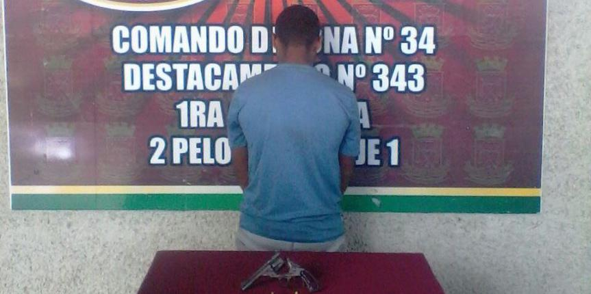 GNB capturó a ciudadano portando revólver en el estado Guárico