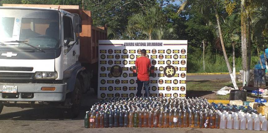 GNB incautó más de 2.800 litros de gasolina en el estado Bolívar