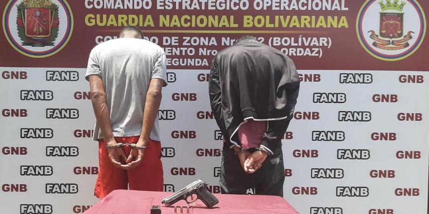 GNB desmanteló banda dedicada a la extorsión de comerciantes en el estado Bolívar