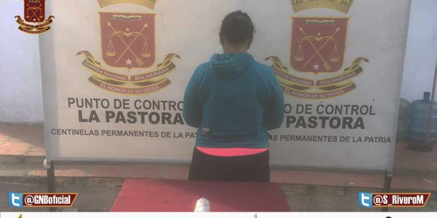 GNB Lara capturo a una ciudadana con una panela de Marihuana